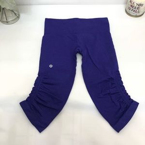 lululemon In The FlowCrop*Bordeaux Drama size 4
